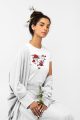 tricou bumbac organic red roses
